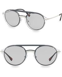 Prada - 51mm Oval Aviator Sunglasses - Lyst