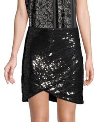 Alice + Olivia - Sequin Wrap Mini Skirt - Lyst