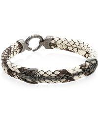 Stinghd - Pythonhd Platinum Braided Bracelet - Lyst
