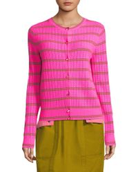 Marc Jacobs - Pointelle Knit Cardigan - Lyst