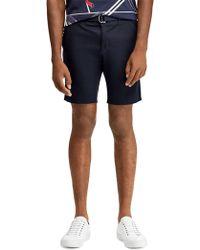 Ralph Lauren Purple Label - Adjustable Buckle Belt Shorts - Lyst