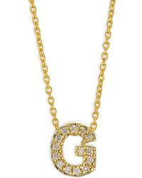 Roberto Coin - 18k Yellow Gold Love Letter G Necklace - Lyst