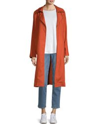 Eileen Fisher - Organic Linen Trench Coat - Lyst