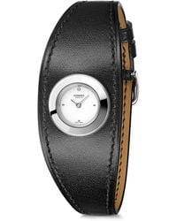 Hermès - Faubourg Manchette Diamond, Stainless Steel & Leather Strap Watch - Lyst
