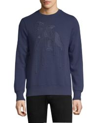 PRPS - Navicular Embroidered Cotton Sweatshirt - Lyst