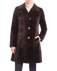 Saks Fifth Avenue - Reversible Mink Fur Coat - Lyst