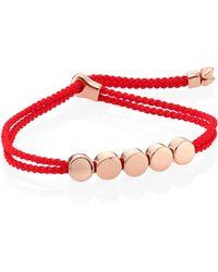 Monica Vinader - Linear Bead Friendship Bracelet/coral - Lyst