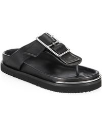 Alexander Wang - Corin Buckle Flat Sandals - Lyst