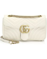 7243ac390296 Gucci - Women's Small GG Marmont Matelasse Shoulder Bag - Soft White - Lyst