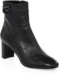 Aquatalia - Venezia Leather Buckle Booties - Lyst