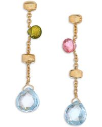 Marco Bicego | Paradise Semi-precious Multi-stone & 18k Yellow Gold Drop Earrings | Lyst