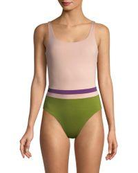 Vilebrequin - Colorblock One-piece Swimsuit - Lyst