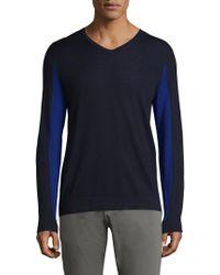 Strellson - Millow V-neck Virgin Wool Sweater - Lyst