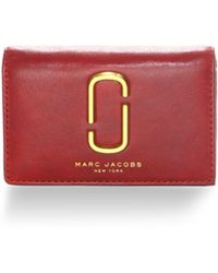 Marc Jacobs - Leather Tri-fold Wallet - Lyst