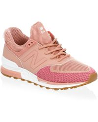 33215ca635aa5f New Balance - Women s Fabric Low-top Sneakers - Dusted Peach - Size 5 -.  PUMA - Womens Rock Grey Heart Pebble Suede Trainers - Lyst