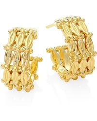 Temple St. Clair | Vigna 18k Yellow Gold Hoop Earrings/0.45 | Lyst