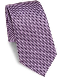 Armani - Chevron Patterned Tie - Lyst