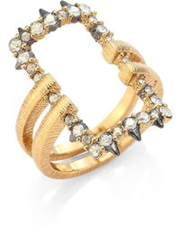 Alexis Bittar - Crystal-encrusted Oversized Link Ring - Lyst