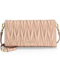 Miu Miu - Mini Bandoliera Leather Shoulder Bag - Lyst c0e56c6ca3364