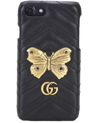 Gucci | Chevron Leather Iphone Case | Lyst