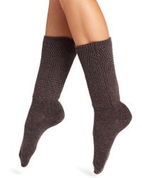 Natori - Honey Comb Knit Crew Socks - Lyst