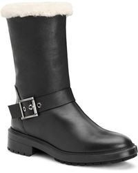 Aquatalia - Leda Shearling & Leather Boots - Lyst