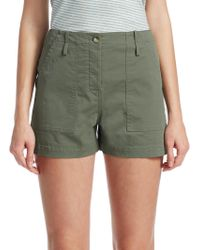 Theory - Twill Cargo Shorts - Lyst