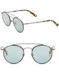 Web - 51mm Round Mirror Sunglasses - Lyst