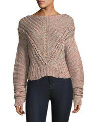 Rag & Bone - Roman Textured Pullover Sweater - Lyst