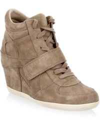 Ash - Bowie Leather Hidden Wedge - Lyst