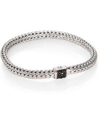 John Hardy - Classic Chain Black Sapphire & Sterling Silver Small Bracelet - Lyst