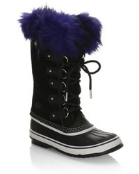 Sorel - Suede Boots With Faux Fur - Lyst