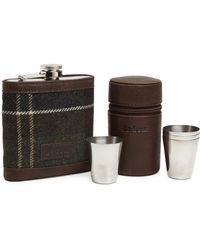 Barbour - Five-piece Tartan Hip Flask Set - Lyst