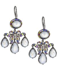Holly Dyment - 14k Black Gold Multi-gemstone Chandelier Drop Earrings - Lyst