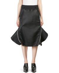 Sacai - Seamed Zip Skirt - Lyst