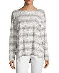 Eileen Fisher - Gradient Stripe Shirt - Lyst