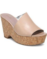 Diane von Furstenberg - Bonnie Tan Platform Wedge Sandals - Lyst