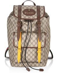 910603b39 Gucci Men's Gg Supreme Web Backpack With Laptop Sleeve in Natural ...