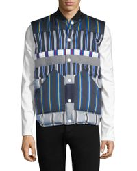 Tommy Hilfiger - Striped Button-front Vest - Lyst