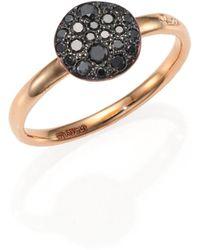 Pomellato | Sabbia Black Diamond & 18k Rose Gold Small Ring | Lyst