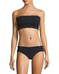 Tory Burch - Smocked Bandeau Bikini Top - Lyst