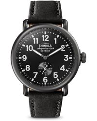 Shinola - Leather Strap Watch - Lyst
