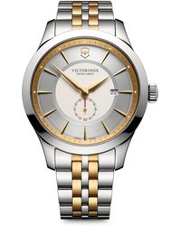 Victorinox - Two-tone Stainless Steel Chronograph Bracelet Watch - Lyst