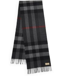Burberry - Half Mega Checked Cashmere Scarf - Lyst