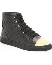 Louis Leeman - Quilted Leather High-top Sneakers - Lyst