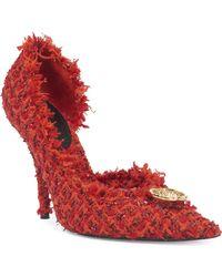 Balenciaga - Stiletto Heel Tweed Pumps - Lyst