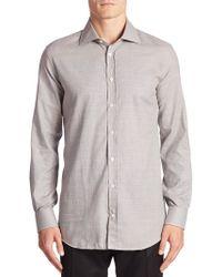 Luciano Barbera - Plaid Cotton Shirt - Lyst