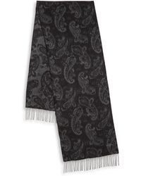 Hickey Freeman - Paisley Print Jacquard Cashmere Scarf - Lyst