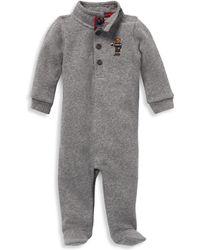 Ralph Lauren Baby Boy's Embroidered Footie
