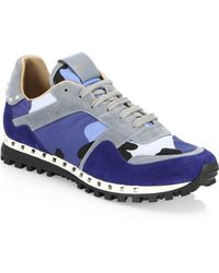 Valentino - Rockrunner Studded Camouflage Trainers - Lyst